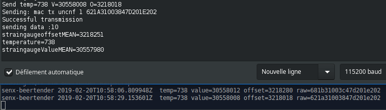 warp10.log last line matches with the latest LoRa transmission