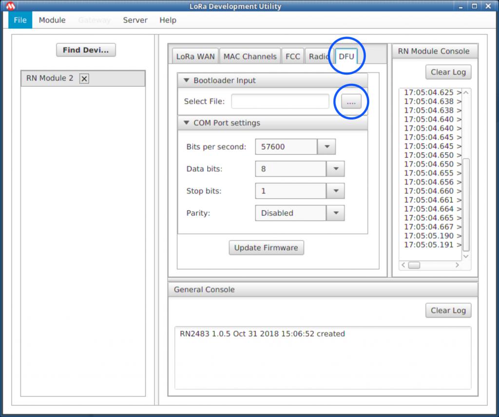 Microchip LoRa Development Utility for Linux