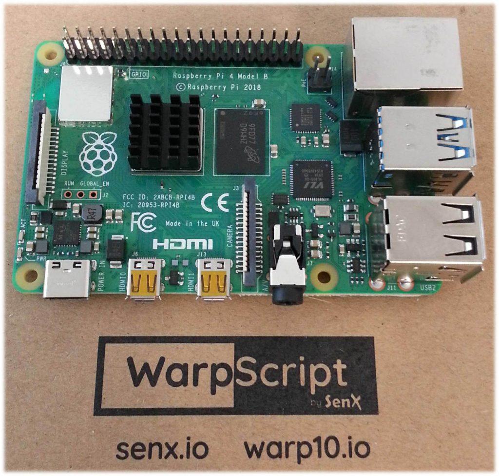 ARM32: Rpi4 B Raspberry Pi 4 with Warp 10