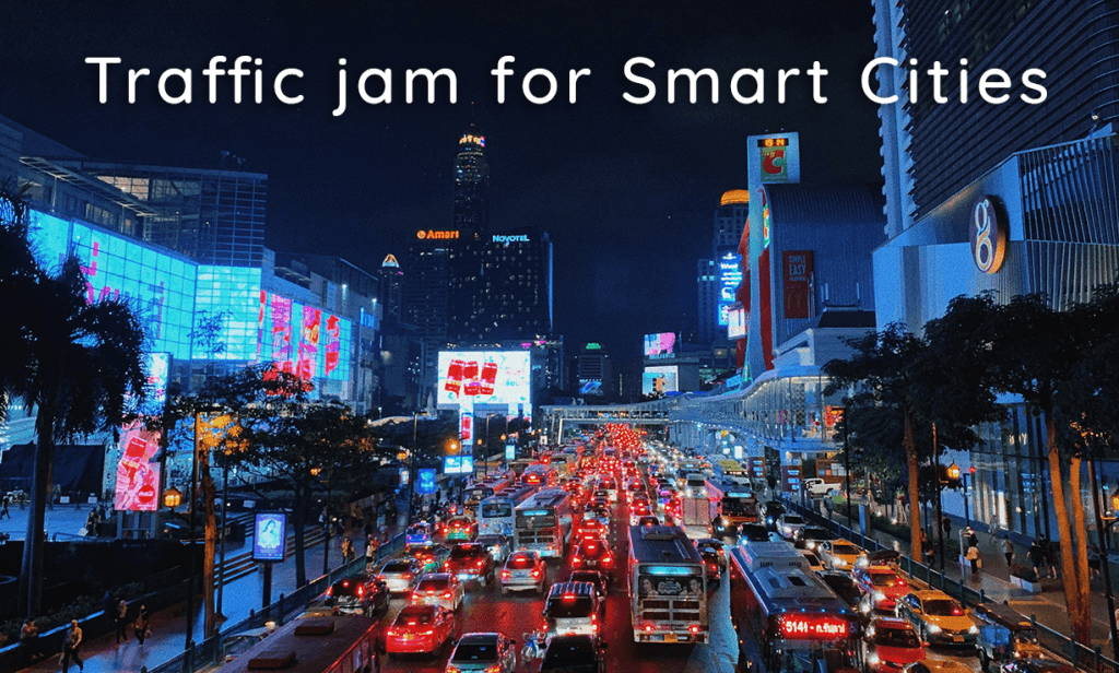 traffic jam for smart cities