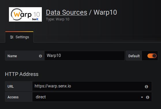 Grafana Data Sources Warp 10