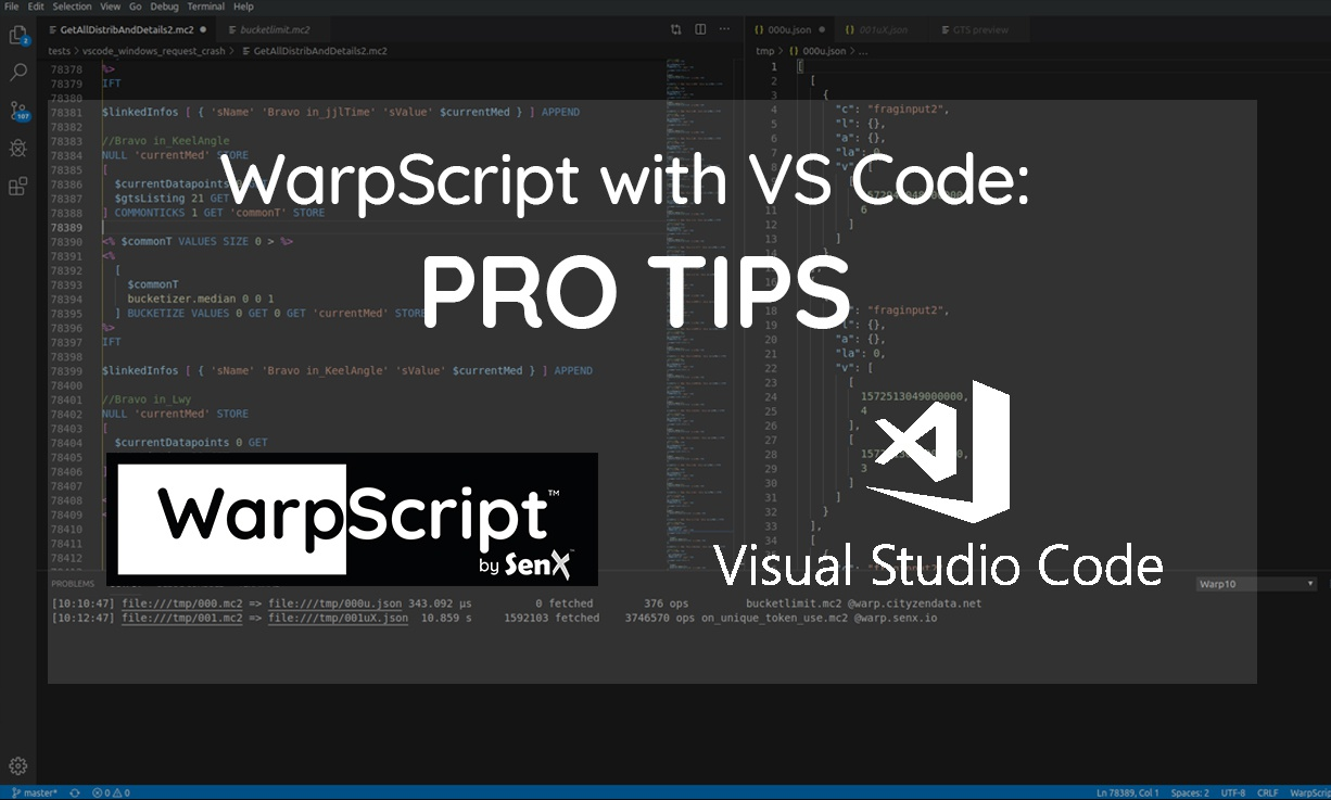 WarpScript with VSCode: pro tips