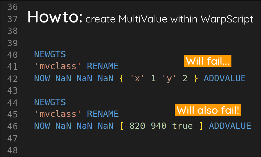Howto: create MultiValue within WarpScript