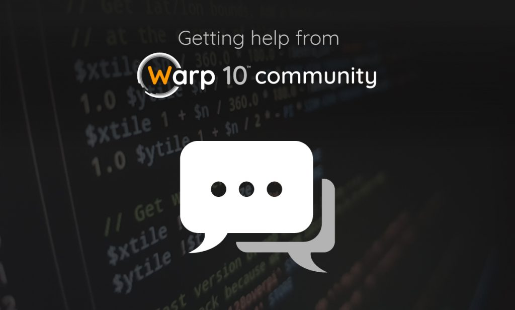 Getting Help from Warp 10 Community
