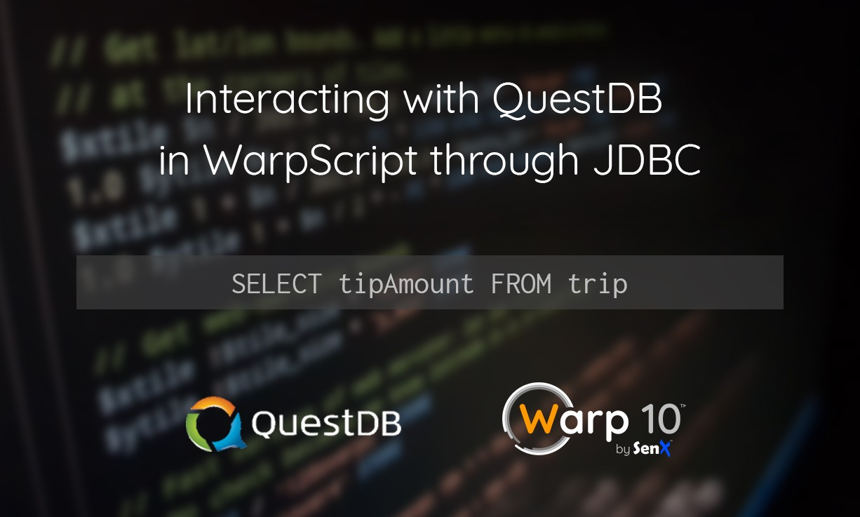 Interacting with QuestDB in WarpScript through JDBC